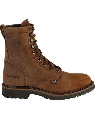 """JUSTIN DRYWALL WP MEN'S SOFT TOE 8"""" LACE UP BOOT-WK960"""