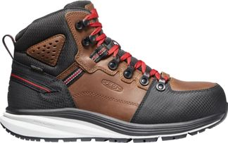 "KEEN UTILITY RED HOOK WP MEN'S WORK COMP TOE 6"" LACE UP BOOT-1024576"