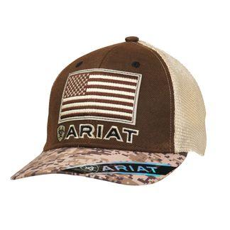 M&F WESTERN ARIAT SNAPBACK DIGITAL CAMO BILL USA FLAG BALLCAP-1510502