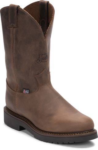 JUSTIN BALUSTERS BAY GAUCHO MEN'S WORK PULL ON BOOT-4444