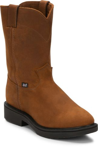 JUSTIN CONDUCTOR MEN'S WORK PULL ON BOOT-4760