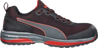 PUMA SPEED BLK/RED LOW EH MEN'S WORK COMP TOE SHOES-644495