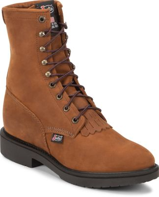 """JUSTIN CONDUCTOR MEN'S WORK 8"""" LACE UP BOOT-760"""
