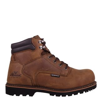 """THOROGOOD BROWN WP MEN'S WORK COMP TOE 6"""" LACE UP BOOT-804-3236"""