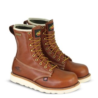 """THOROGOOD AMERICAN HERITAGE WEDGE MEN'S COMP TOE 8"""" LACE UP BOOT-804-4210"""