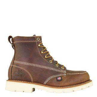 """THOROGOOD AMERICAN HERITAGE CRAZYHORSE MEN'S STEEL TOE 6"""" LACE UP BOOT-804-4375"""