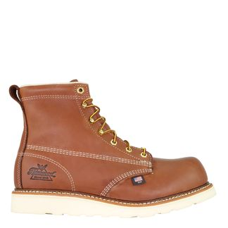 """THOROGOOD AMERICAN HERITAGE TOBACCO MEN'S COMP TOE 6"""" LACE UP BOOT-804-4655"""