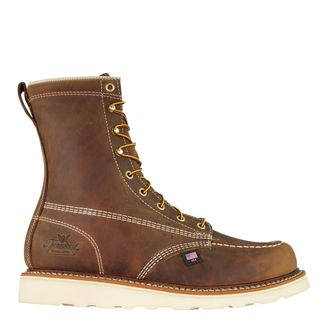 """THOROGOOD AMERICAN HERITAGE MEN'S WORK SOFT TOE 8"""" LACE UP BOOT-814-4178"""