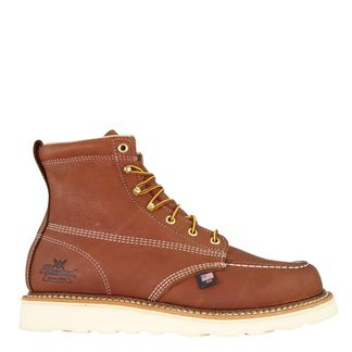 """THOROGOOD AMERICAN HERITAGE TOBACCO MEN'S WORK SOFT TOE 6"""" LACE UP BOOT-814-4200"""