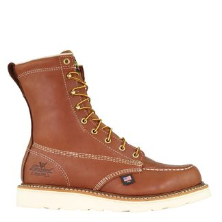 """THOROGOOD AMERICAN HERITAGE MEN'S WORK SOFT TOE 8"""" LACE UP BOOT-814-4201"""
