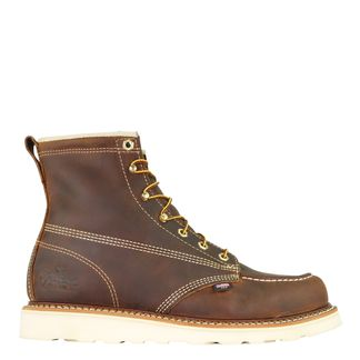 """THOROGOOD AMERICAN HERITAGE CRAZYHORSE MEN'S WORK SOFT TOE 6"""" LACE UP BOOT-814-4203"""