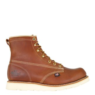 """THOROGOOD AMERICAN HERITAGE TOBACCO MEN'S WORK SOFT TOE 6"""" LACE UP BOOT-814-4355"""