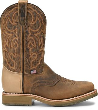 DOUBLE H DWIGHT MEN'S WORK STEEL TOE PULL ON BOOT-DH3567