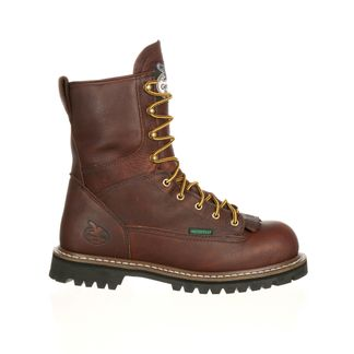 """GEORGIA WP MEN'S WORK STEEL TOE 8"""" LACE UP BOOT-G103"""