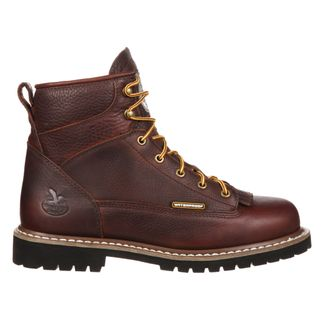 """GEORGIA LACE-TO-TOE WP MEN'S WORK STEEL TOE 6"""" BOOT-GBOT053"""