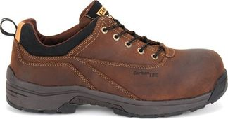 CAROLINA OXFD BRN LYTNING ESD MEN'S WORK SHOE COMP TOE-LT150