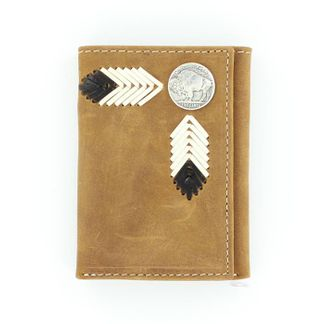 M&F TRIFOLD BUFFALO NICKLE MEDIUM BROWN WALLET-N5434244