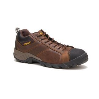 CAT ARGON / DARK BROWN MEN'S WORK SHOE COMP TOE-P89957