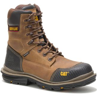 """CAT FABRICATE WP MEN'S WORK COMP TOE 8"""" LACE UP BOOT-P90453"""
