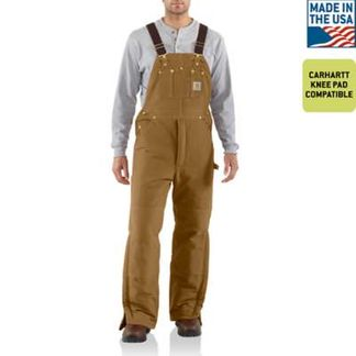 CARHARTT ARIC LINED BIB MEN'S WORKWEAR JEANS/PANTS-R03-BRN