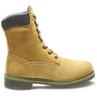 "WOLVERINE WATERPROOF/GOLD MEN'S WORK 8"" LACE UP BOOT-W01195"