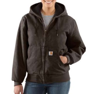CARHARTT WASHED DUCK INSULATED ACTIVE JAC WOMEN'S WORKWEAR TOPS-WJ130-DKB