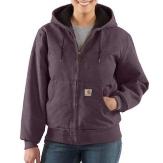 CARHARTT WASHED DUCK INSULATED ACTIVE JAC WOMEN'S WORKWEAR TOPS-WJ130-DPM