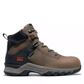 "TIMBERLAND HYPERCHARGE WP MEN'S WORK COMP TOE 6"" LACE UP BOOT-A28AE214"