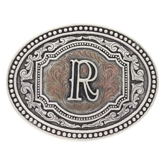 MONTANA SILVERSMITHS SILVER & COPPER INITIAL R BUCKLE-A518R