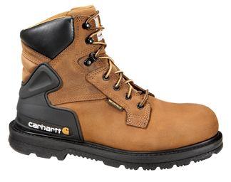 "CARHARTT BOOTS WATERPROOF MEN'S WORK 6"" LACE UP BOOT-CMW6120"