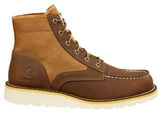 """CARHARTT WEDGE SOLE MOC TOE MEN'S WORK 6"""" LACE UP BOOT-FW6035"""