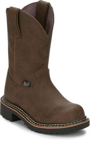 JUSTIN RUGGED BAY GAUCHO COW KID'S WESTERN BOOT-4444JR