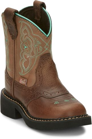 JUSTIN NURI TAN KID'S WESTERN BOOT-9622JR