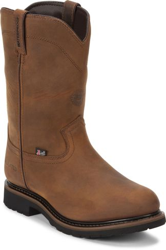 JUSTIN WYOMING WATERPROOF INS MEN'S WESTERN BOOT-SE4980