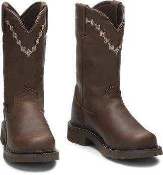 JUSTIN WYOMING WP WOMEN'S WORK COMP TOE PULL ON BOOT-WKL9994