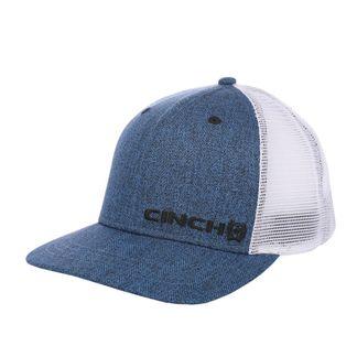 CINCH NAVY & WHITE MEN'S TRUCKER BALLCAP-MCC0510006