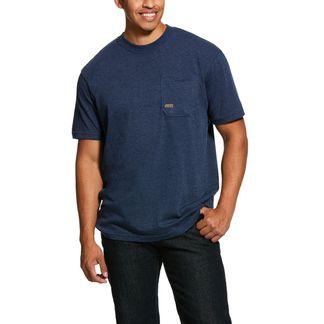ARIAT REBAR COTTON STRONG AMERICAN GRIT MEN'S WORKWEAR SHIRT-10030330