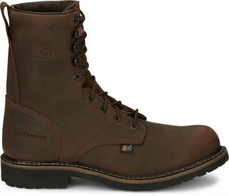 """JUSTIN DRYWALL WP MEN'S WORK STEEL TOE 8"""" LACE UP BOOT-WK961"""