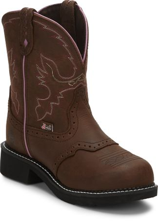 JUSTIN AGED BARK WOMEN'S WORK STEEL TOE PULL ON BOOT-GY9980